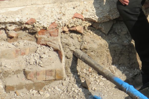 Traces of old Club House revealed